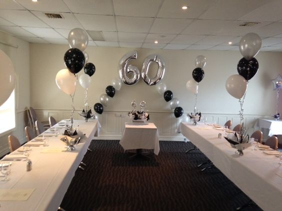 Decorations for your 60th birthday 60th birthday party for Decoration 60th birthday party