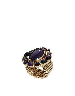 Enlarge Talulluh Tu Stone Crystal Cocktail Ring