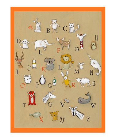 Take a look at this Orange Alphabet Print by Creative Thursday on #zulily today!