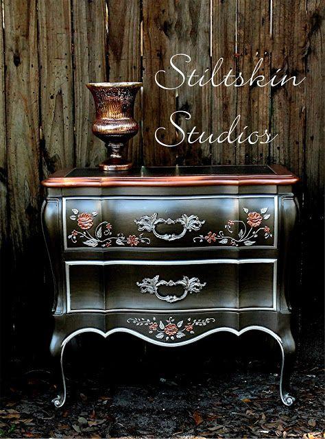 Smoke U0026 Copper Modern Masters Metallic Paint | Metallic Furniture  Transformation By Stiltskin Studios