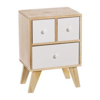 31,6€ Set de 3 cestos Nature color beige y madera natural. #cesto #nature #blanco #madera  Deskontalia Productos - Descuentos del 70%