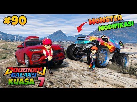 Gta 5 Mod Boboiboy Kuasa 7 Modifikasi Truck Monster Youtube Raksasa Grand Theft Auto Monster