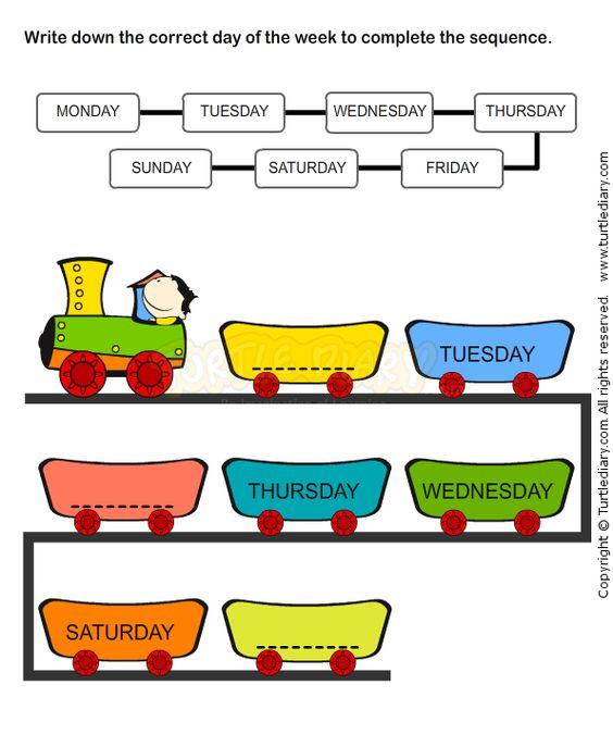 Weekdays Worksheet 7 - math Worksheets - kindergarten Worksheets ...
