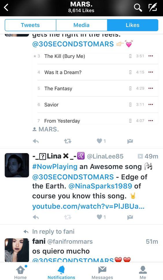 Mars liked my tweet!