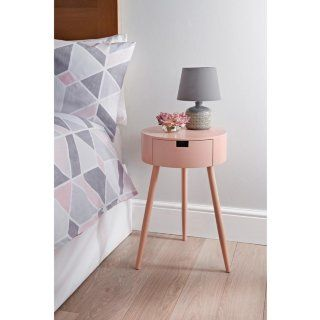 Moden 1 Drawer Bedside Table Blush In 2020 Cheap Bedside Tables Midcentury Bedside Table Bedside Table