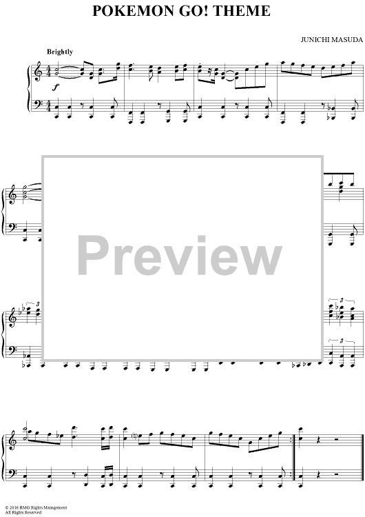pokemon theme song piano sheet music pdf