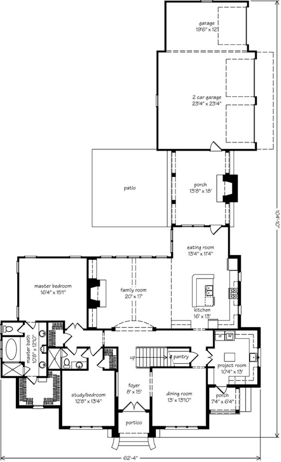 Breezeway house and open layout on pinterest Breezeway house plans