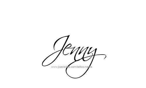 Diseño del tatuaje Nombre Jeny   Esperanza Paredes