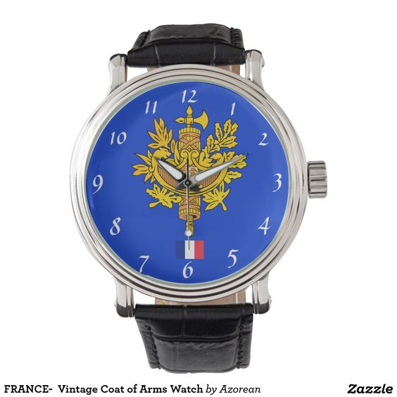 FRANCE-  Vintage Coat of Arms Watch