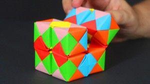 Cómo Hacer Un Cubo Infinito De Papel Manualidades Origami Manualidades Origami Cube Origami Magic Rose Cube Origami Toys