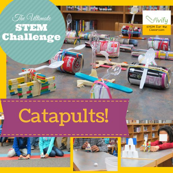 Catapult, Stem activities and Engineering design process on Pinterest