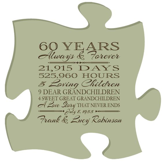 Ideas For 60th Wedding Anniversary Gifts For Parents : Personalized 60th anniversary gift for him,60th anniversary gift for ...