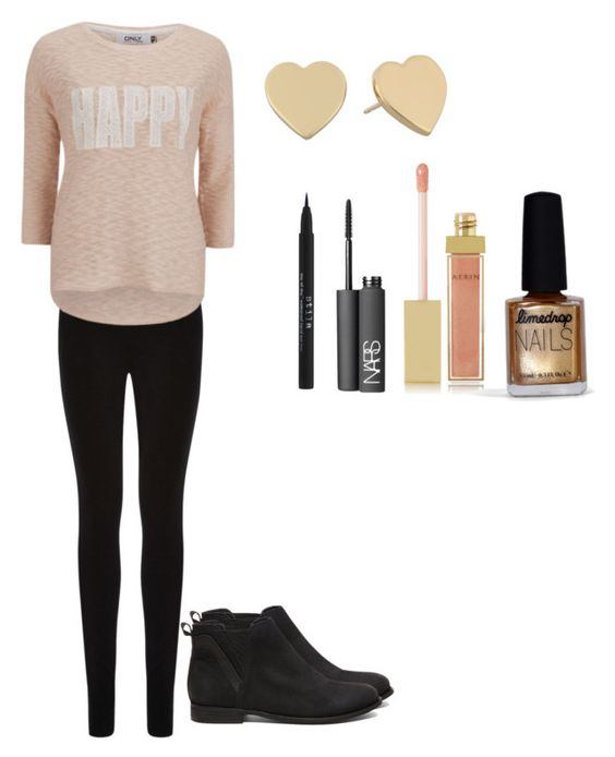 """""""Golden smiles"""" by nicole-reynoso ❤ liked on Polyvore featuring Oasis, ONLY, Steve Madden, Kate Spade, NARS Cosmetics, AERIN, Stila and Limedrop"""