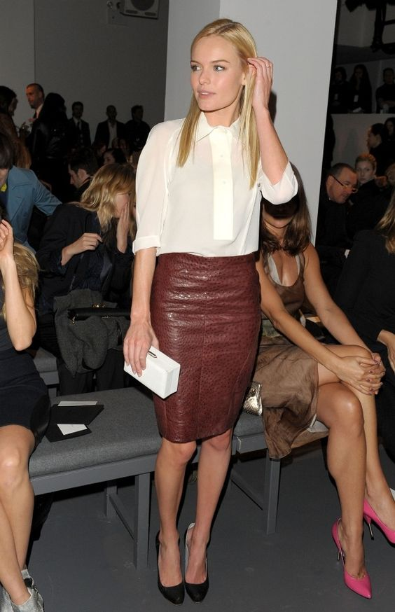 What To Wear With A Tan Leather Skirt - Redskirtz