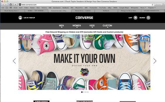 converse banner ad Website Design Pinterest Website designs - designer gerat smiirl facebook fans