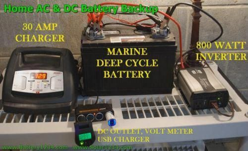 How To Make Your Own Emergency Home Battery Bank Solar Forum At Permies Deep Cycle Battery Recondition Batteries Portable Battery Bank