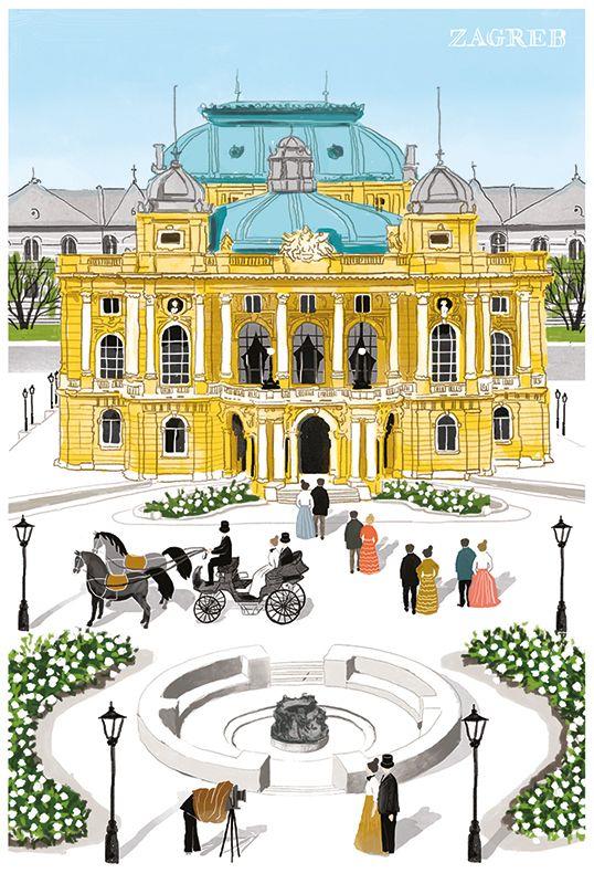 Postcards Of Zagreb 2016 On Behance In 2020 Zagreb Postcard Croatia