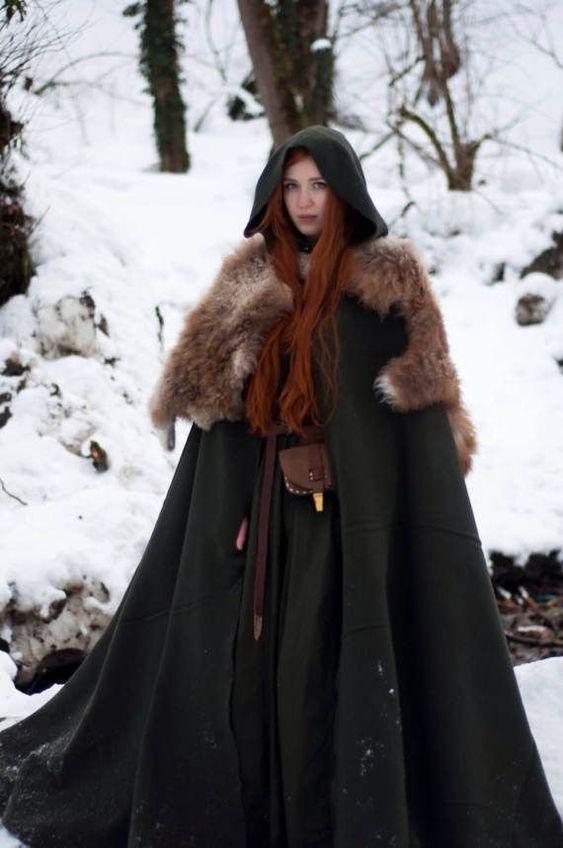 Wool cloak; viking cloak; natural warm wool - #cloak #machine #Natural #viking #warm #wool
