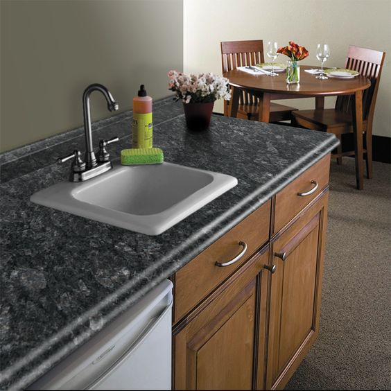 Vt dimensions formica 10 ft midnight stone etchings miter for Granite countertop width