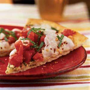 Garden Tomato and Basil Pesto Pizza | MyRecipes.com