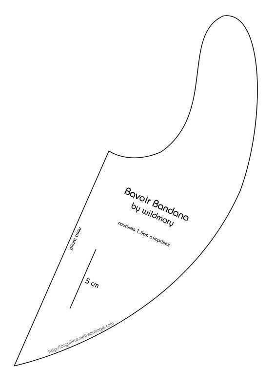 bavoir bandana tuto couture pinterest public et bandanas. Black Bedroom Furniture Sets. Home Design Ideas