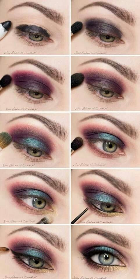 Smokey eye this would be nice for a mad hatter 39 s look for Smokey eyes blau