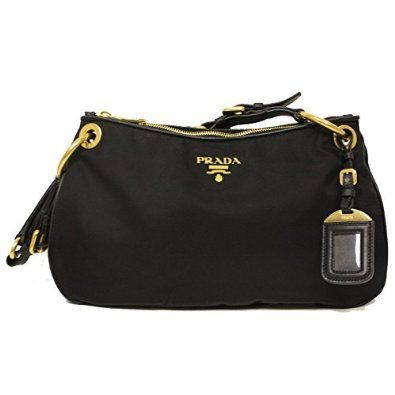 prada tessuto embellished shoulder bag