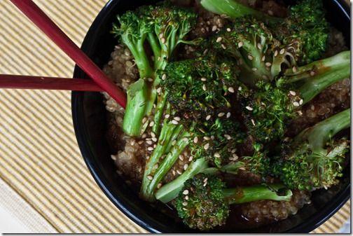 Szechuan broccoli withbquinoa