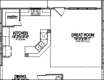 L shaped kitchen floor plans with dimensions corner for Kitchen plans with island and pantry