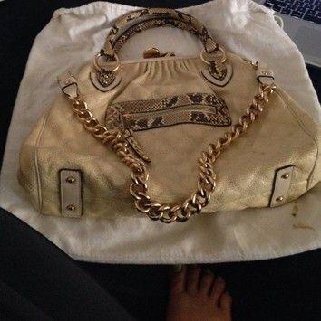 Marc Jacobs Snake Stam Tan- Snake Bag - Satchel $375