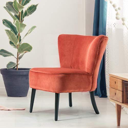 200 Amazon Com Orange Upholstered Velvet Accent Chair Emille