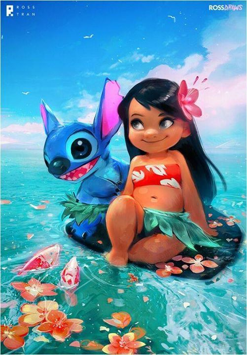 Disney Disneyart Lilo Stitch Dibujos Kawaii Pinturas Disney