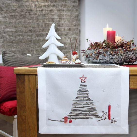 Weihnachtstischläufer CANDLESTICKS