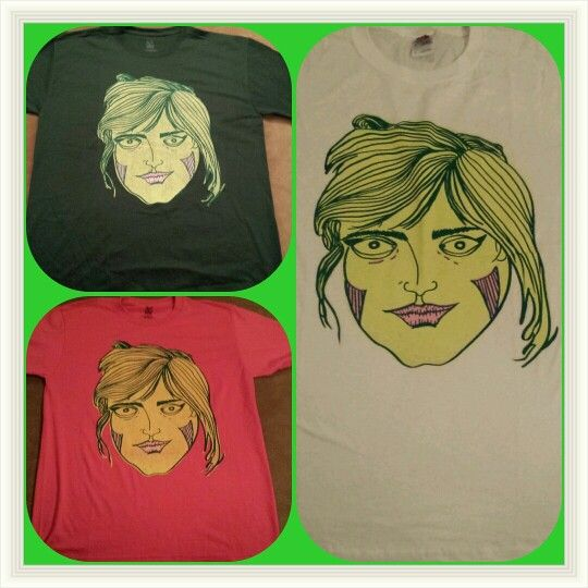 April Tees! (Bride of Frankie) Trying out different color tees. Made to order. #april #brideoffrankie #grimcartoons #illustration #screenprint #silkscreen #handprinted #monster #sexy