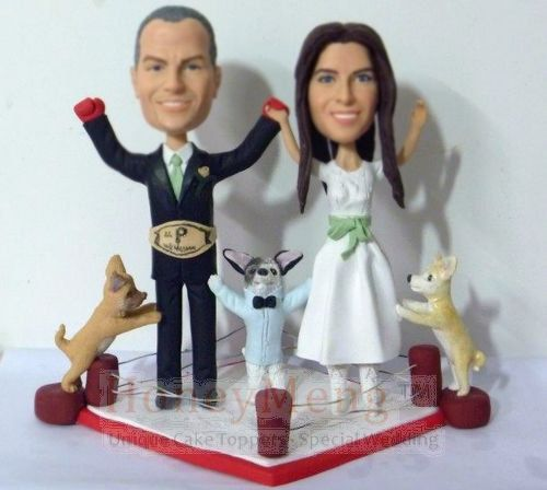 boxing wedding cake toppers boxing themed wedding cake topper personalized cake topper 12112
