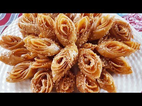 معسلات رمضان حلوة لسان العصفور السهلة و السريعة لي مكتخطانيش بمذاق الشباكية كتجي هشة وكذوب في الفم Youtube Cooking Recipes Food Arabic Food