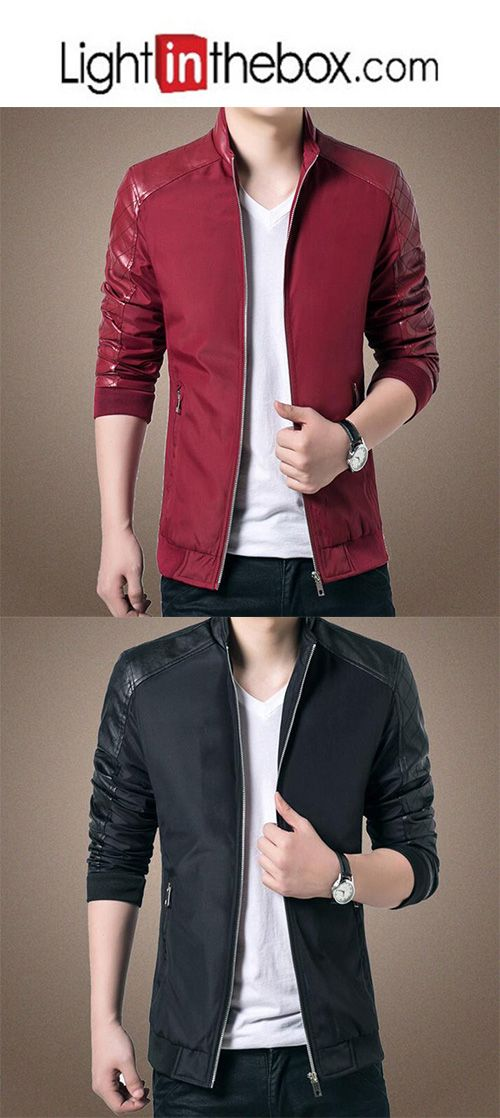 Men's Going out Leisure Korean Leather Jacket | Jackets