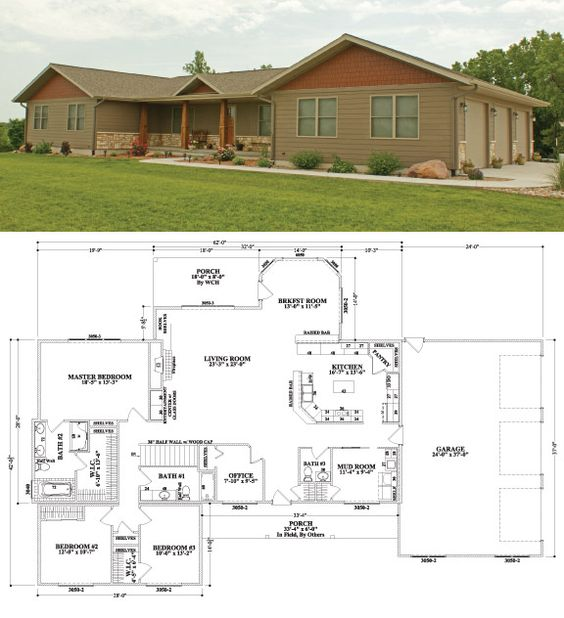3 car garage the floor and house on pinterest - Three story modular homes ...