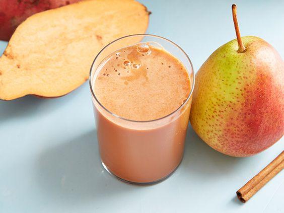 Sweet-Potato-Pear Cinnamon Juice: Network Kitchen, Healthy Juices, Smoothies Juice Recipes, Kitchens Food, Juice Bar, Cinnamon Juice, Sweet Potatoes, Healthy Drinks, Sweet Pears