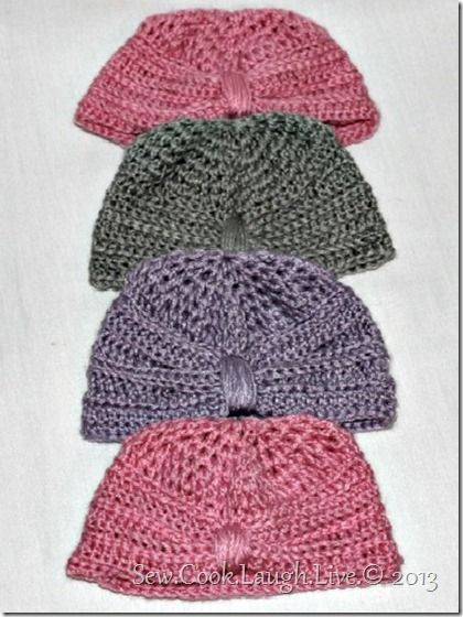 Free Crochet Pattern For Baby Turban : Free baby beanie turban pattern http://sewcooklaughlive ...