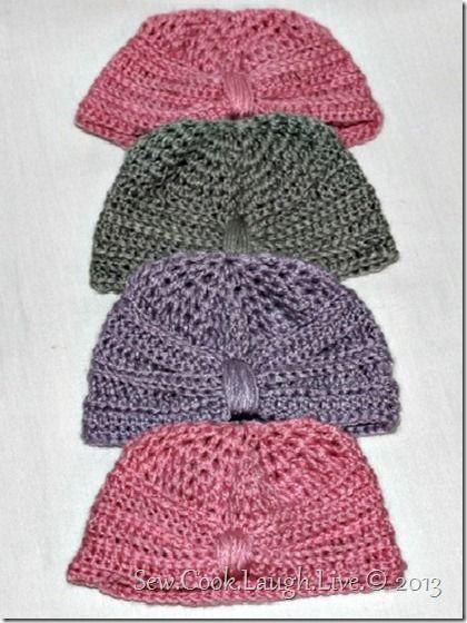 Free Crochet Pattern Baby Turban : Free baby beanie turban pattern http://sewcooklaughlive ...