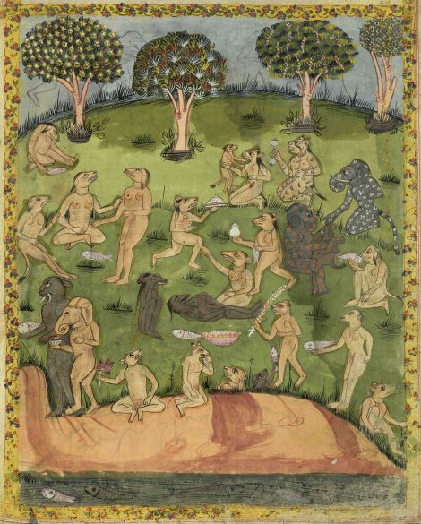 """Jinns from 17th or 18th century manuscript copy of """"The Book of Wonders of the Age"""" (St Andrews ms32(o))"""