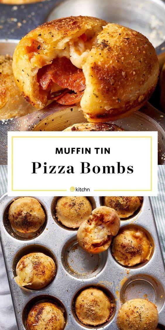 Muffin Tin Pizza Bombs