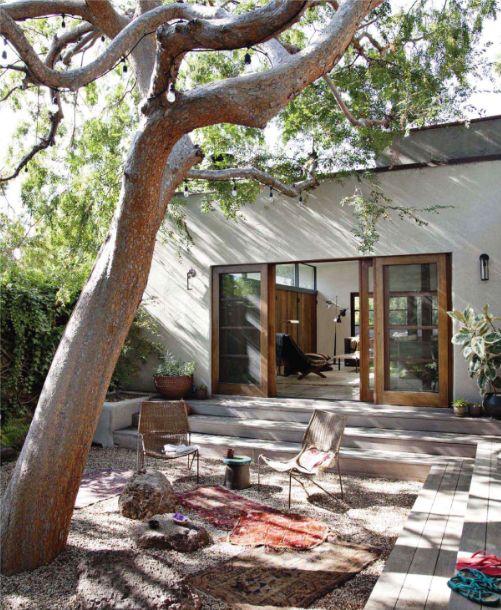 courtyard -- designer pamela shamshiri for house beautiful