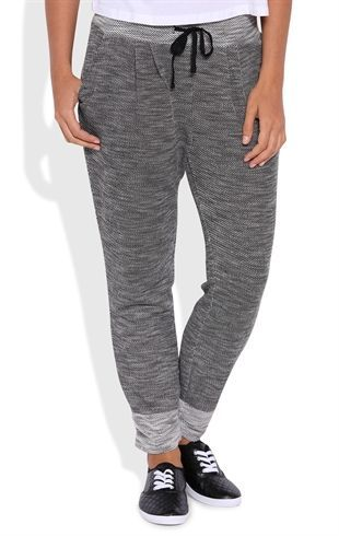 Deb Shops French Terry Space Dye Jogger Pants $18.75: