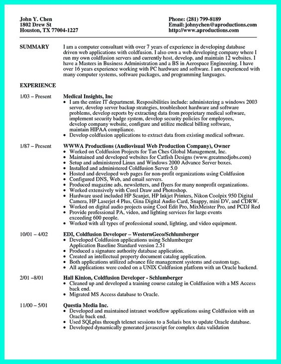 Senior Programmer Analyst Resume samples SlideShare