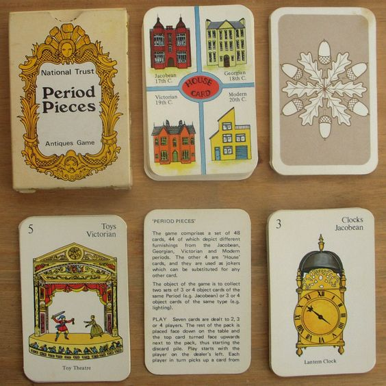 Vintage/Retro 1970s Playing Cards The National Trust Antiques Game -1976