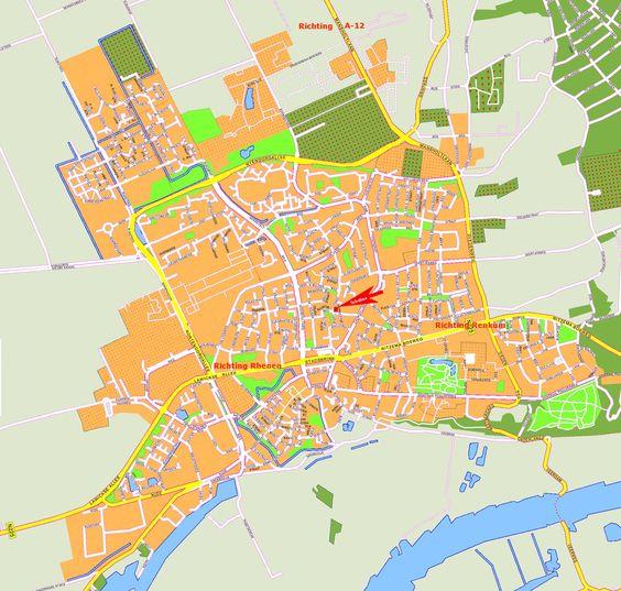 Wageningen plattegrond - Google zoeken