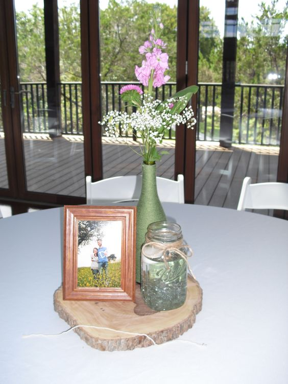 Majewski-Steed wedding at The Pavilion. We loved their rustic centerpieces!