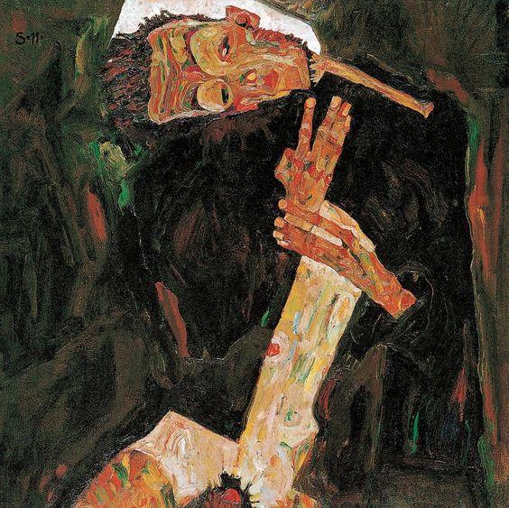 Egon Schiele – The Poet (Self-Portrait) (1911) [1602 x 1600] : ArtPorn